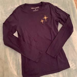 Disney second star to the right long sleeve tee